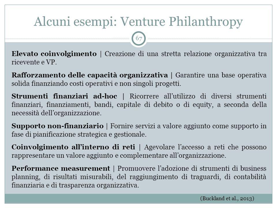 Alcuni esempi: Venture Philanthropy