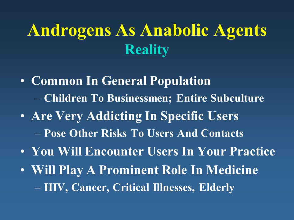 Androgens As Anabolic Agents Reality