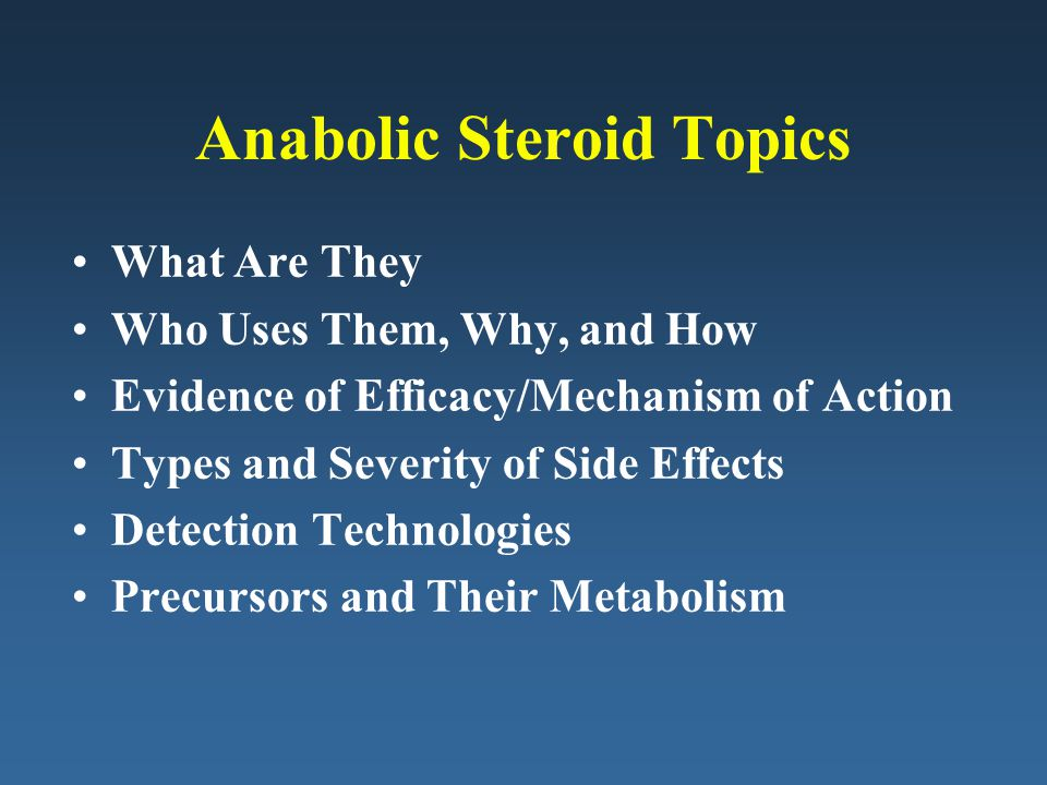 Anabolic Steroid Topics