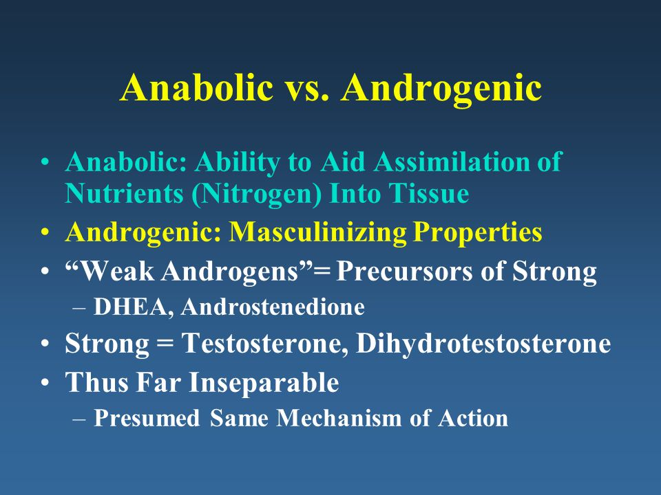 Anabolic vs. Androgenic