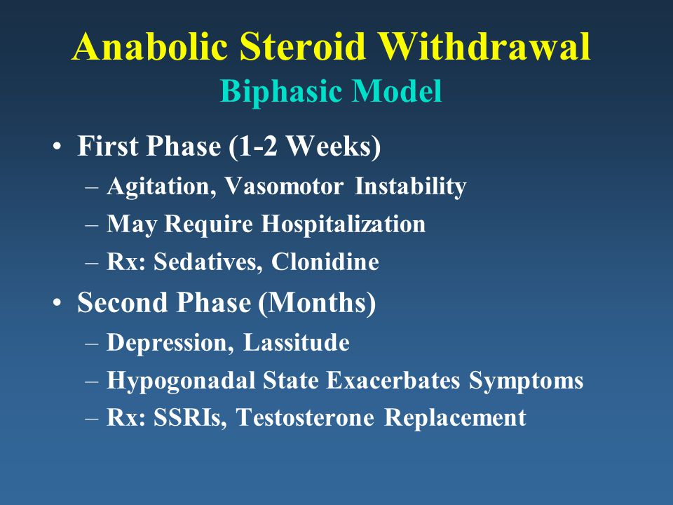 Anabolic Steroid Withdrawal Biphasic Model