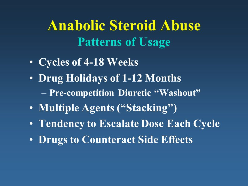 Anabolic Steroid Abuse Patterns of Usage