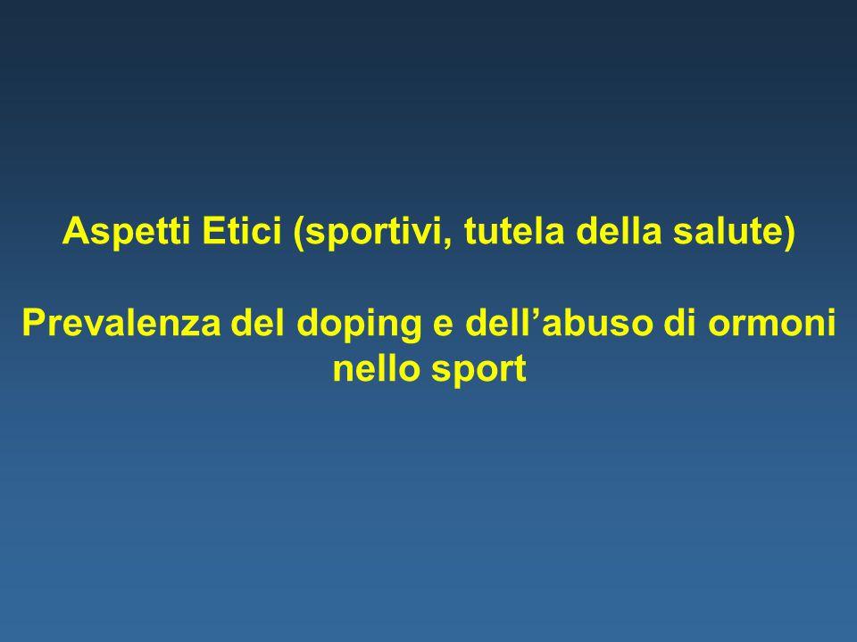 Aspetti Etici (sportivi, tutela della salute)