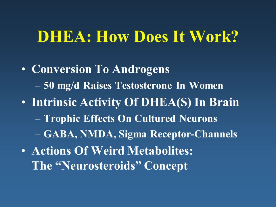 DHEA: How Does It Work Conversion To Androgens