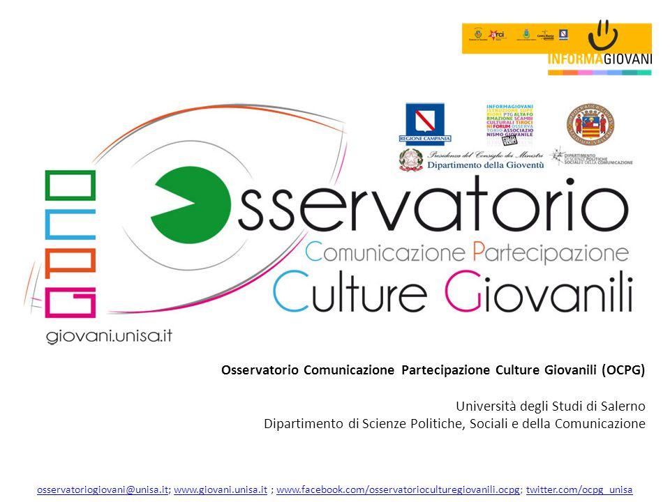 Osservatorio Comunicazione Partecipazione Culture Giovanili (OCPG)