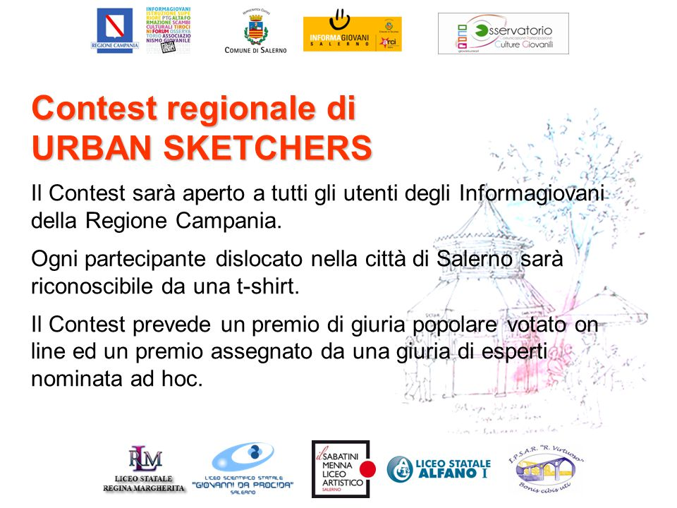 Contest regionale di URBAN SKETCHERS