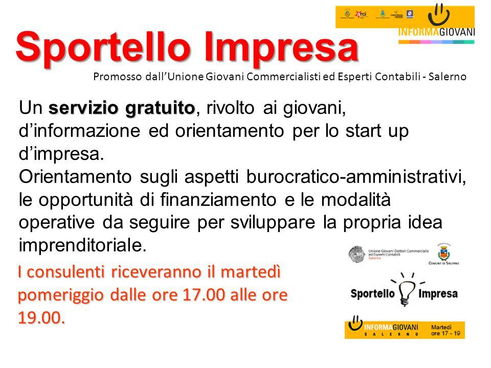 Sportello Impresa Promosso dall'Unione Giovani Commercialisti ed Esperti Contabili - Salerno.