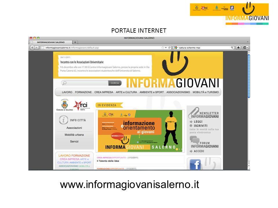 PORTALE INTERNET www.informagiovanisalerno.it