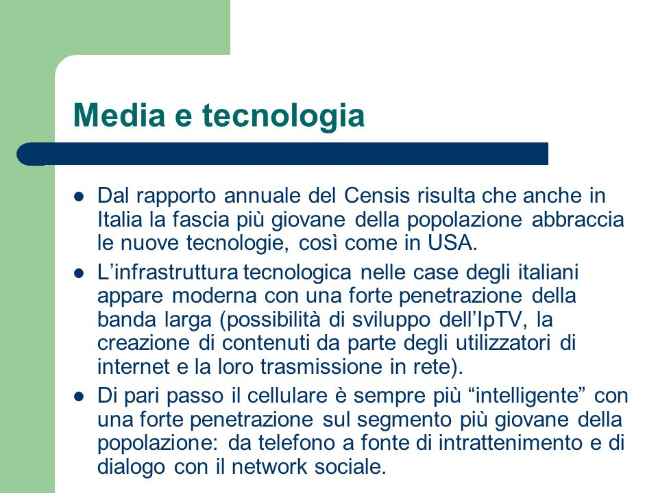 Media e tecnologia