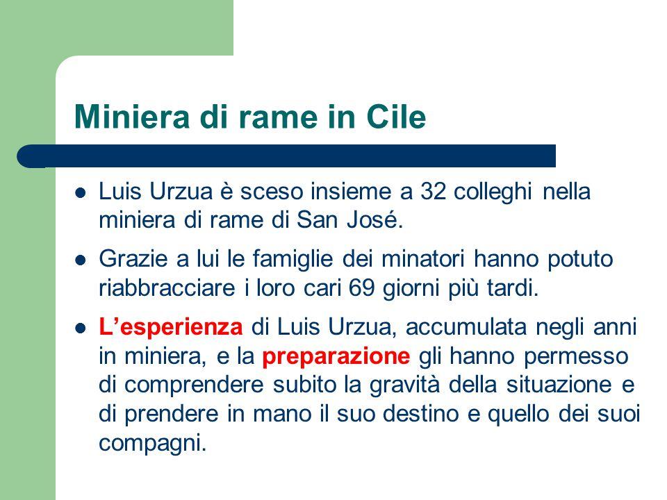 Miniera di rame in Cile Luis Urzua è sceso insieme a 32 colleghi nella miniera di rame di San José.