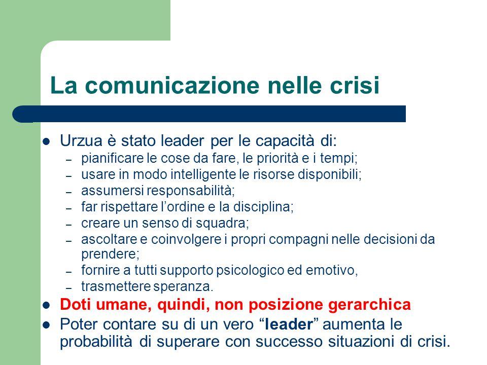 La comunicazione nelle crisi