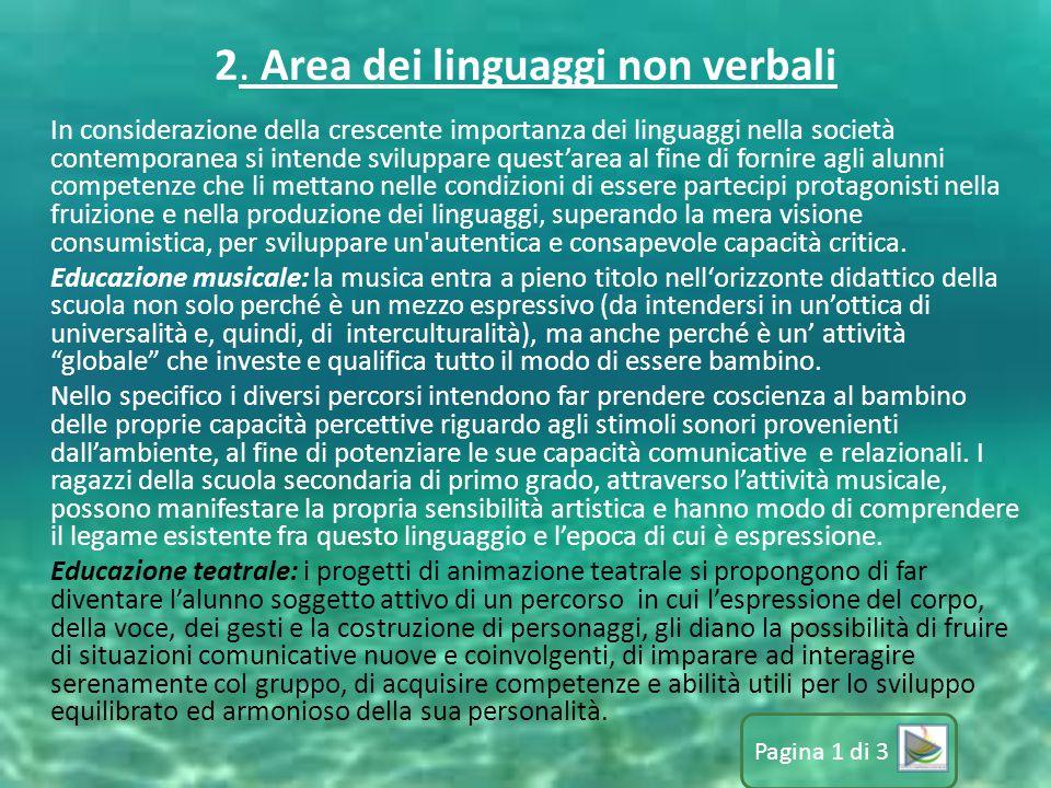 2. Area dei linguaggi non verbali