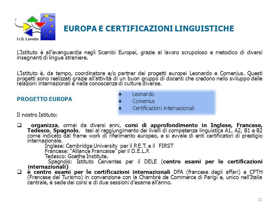 EUROPA E CERTIFICAZIONI LINGUISTICHE