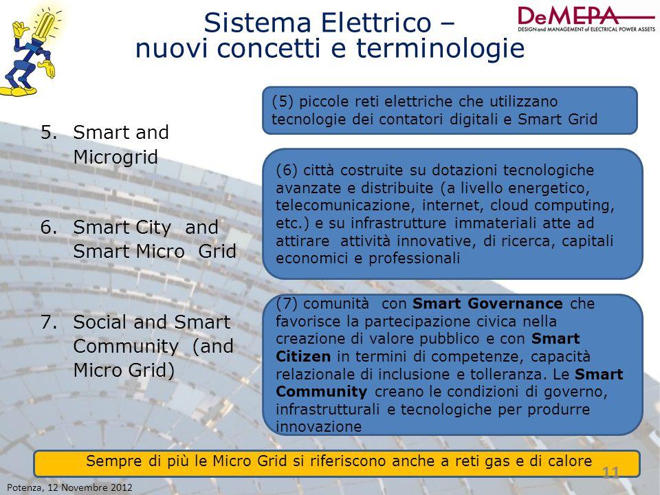 Sistema Elettrico – nuovi concetti e terminologie