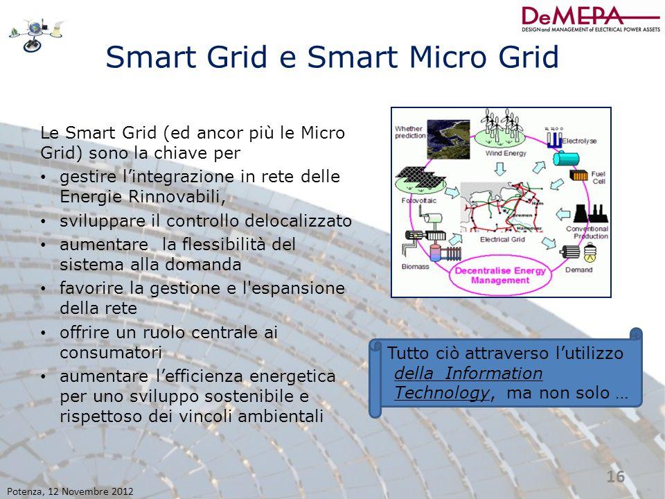Smart Grid e Smart Micro Grid