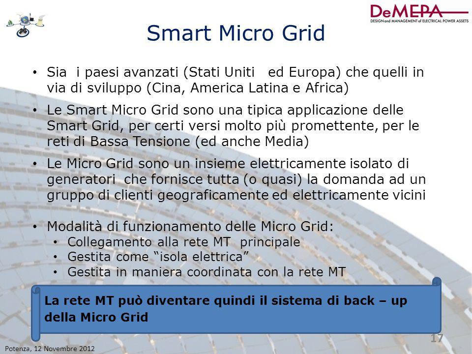Smart Micro Grid Sia i paesi avanzati (Stati Uniti ed Europa) che quelli in via di sviluppo (Cina, America Latina e Africa)