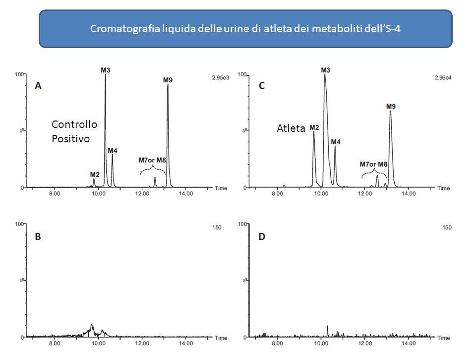 Cromatografia liquida delle urine di atleta dei metaboliti dell'S-4