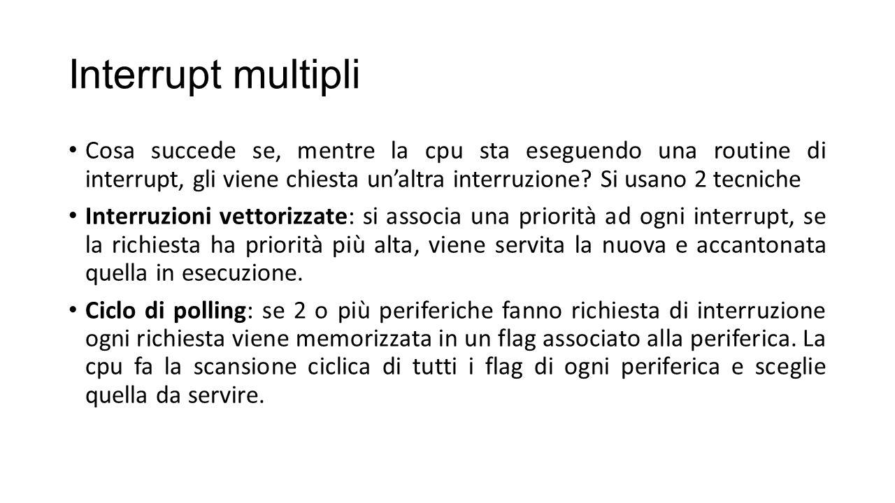Interrupt multipli