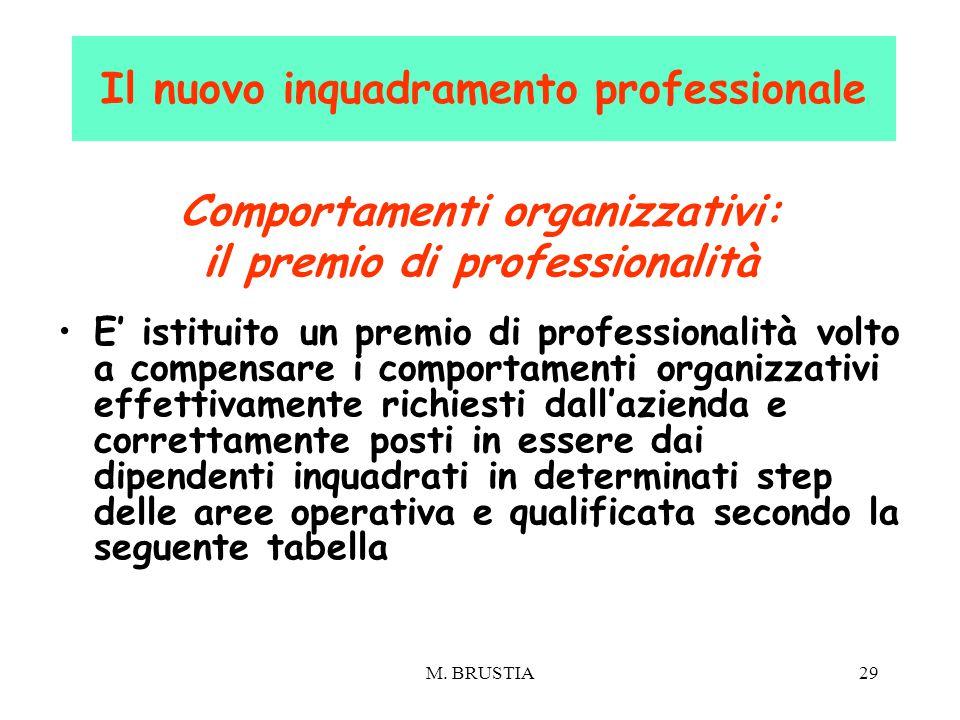 Il nuovo inquadramento professionale