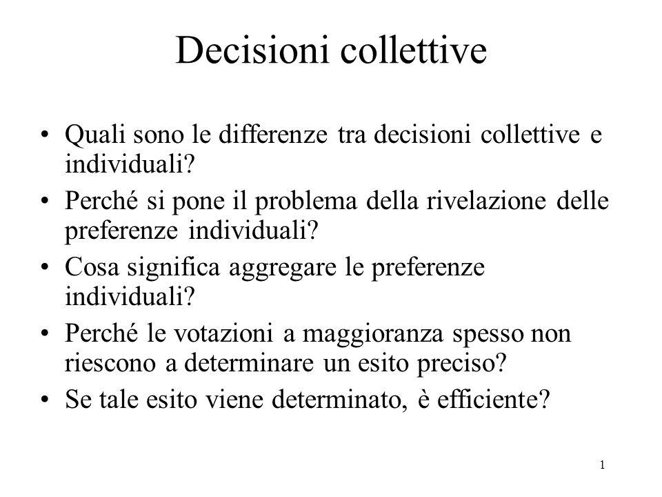 Decisioni collettive Quali sono le differenze tra decisioni collettive e individuali