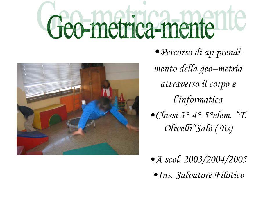 Geo-metrica-mente •Percorso di ap-prendi- mento della geo–metria