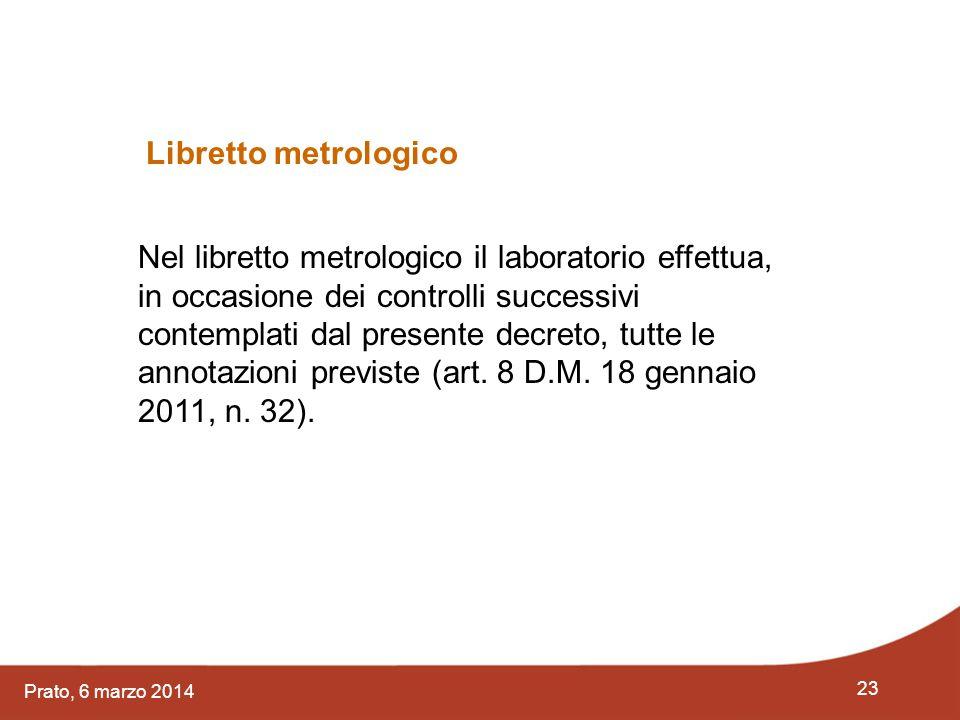 Libretto metrologico