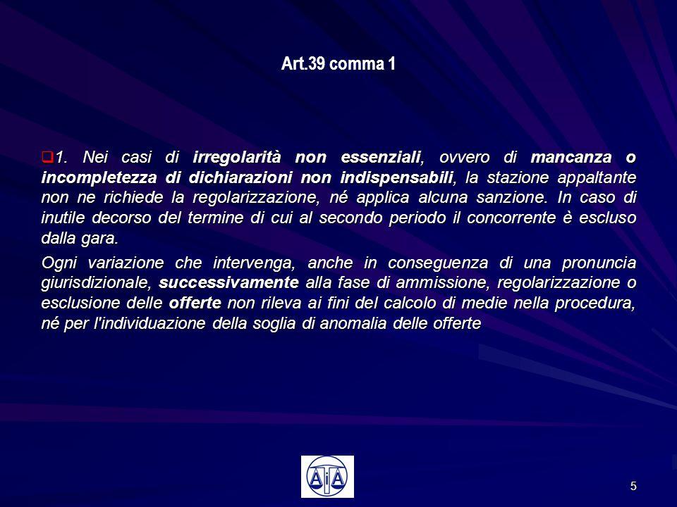 Art.39 comma 1