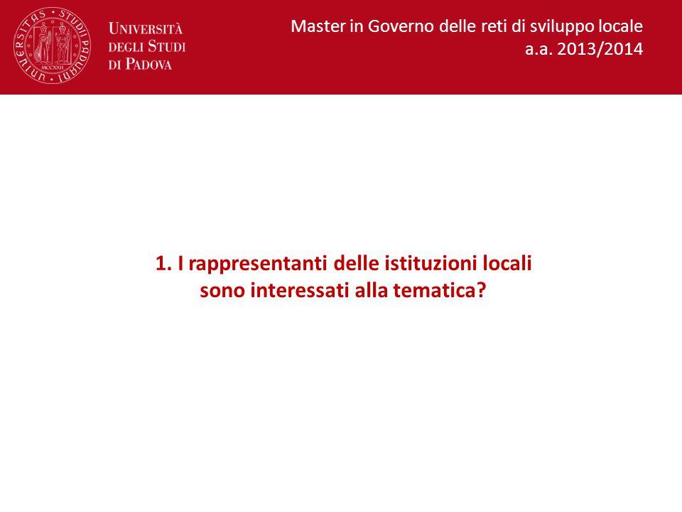 Master in Governo delle reti di sviluppo locale