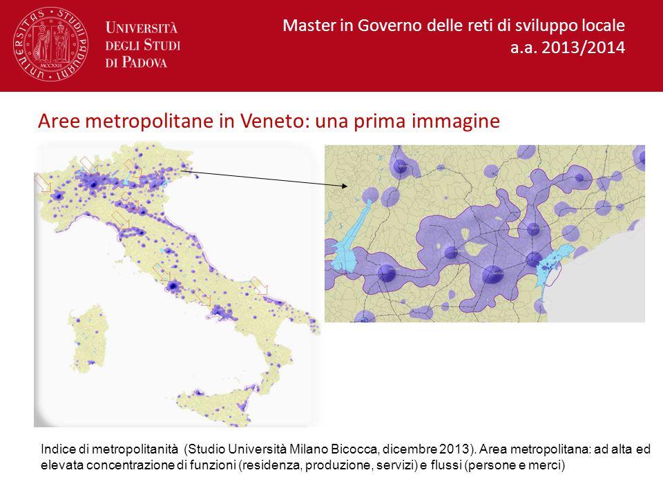 Aree metropolitane in Veneto: una prima immagine