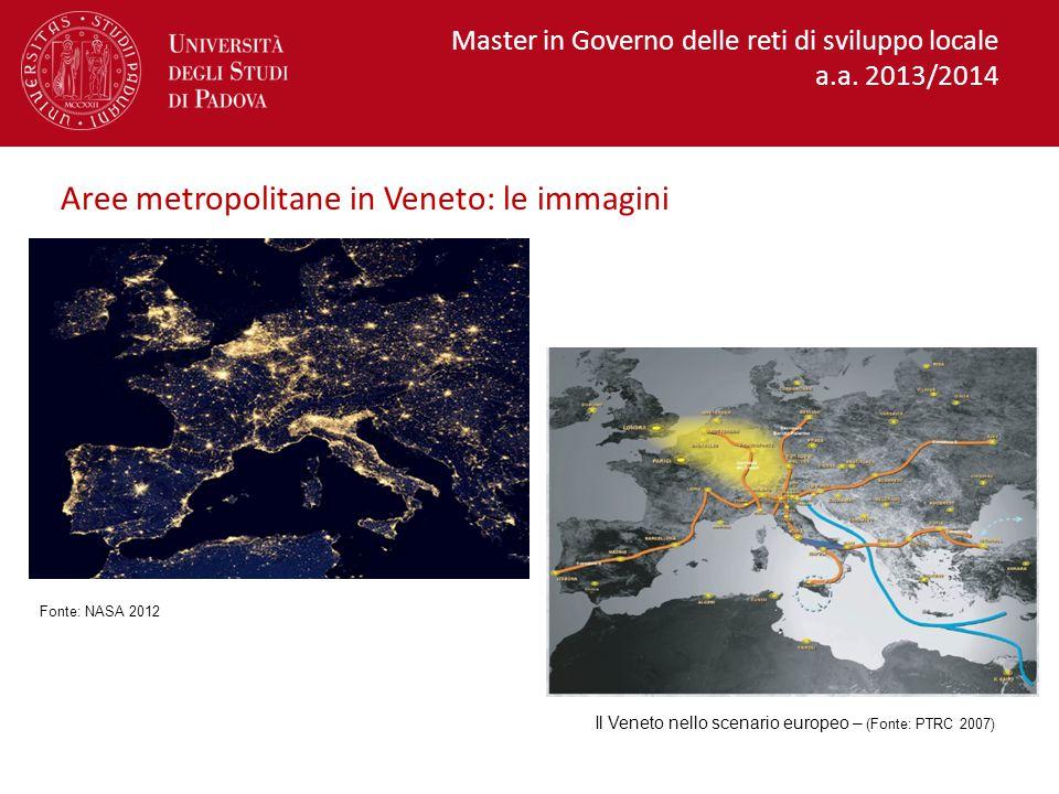 Il Veneto nello scenario europeo – (Fonte: PTRC 2007)