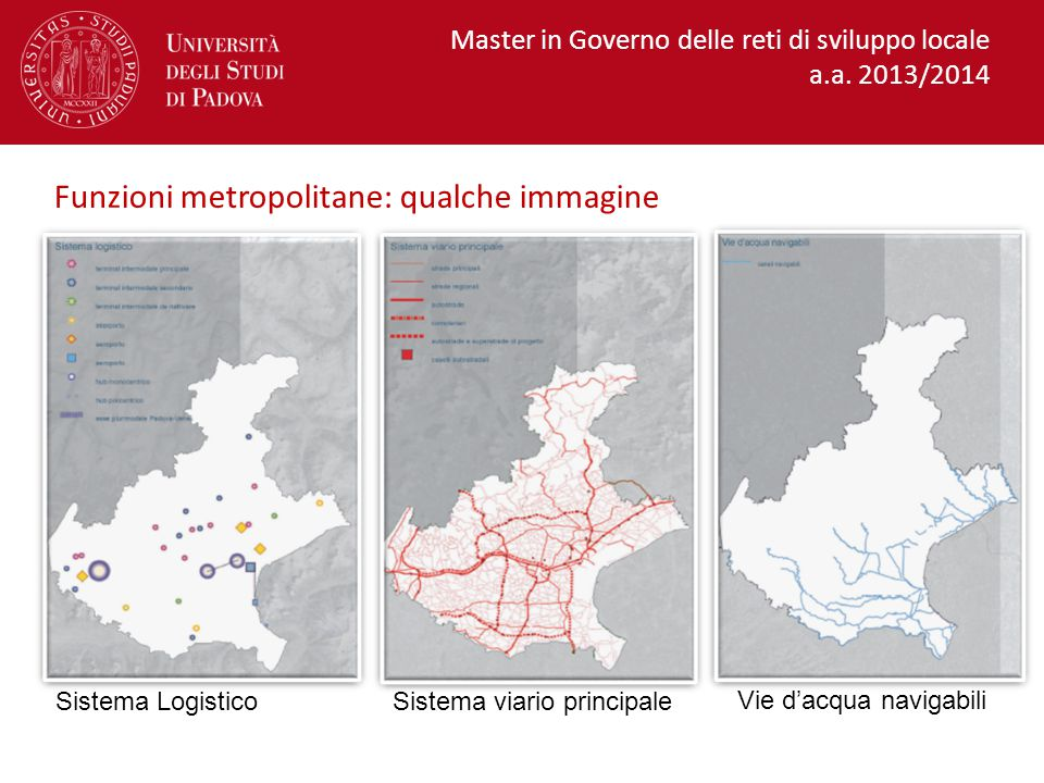 Funzioni metropolitane: qualche immagine