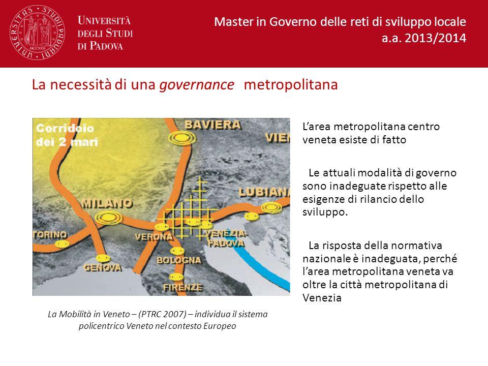 La necessità di una governance metropolitana