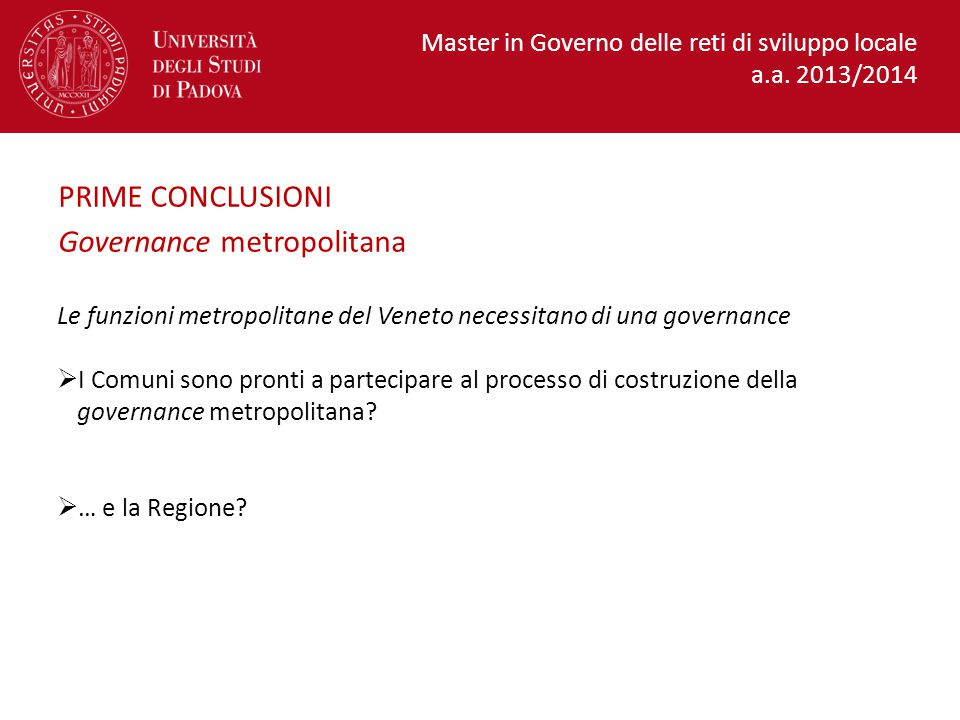 Governance metropolitana