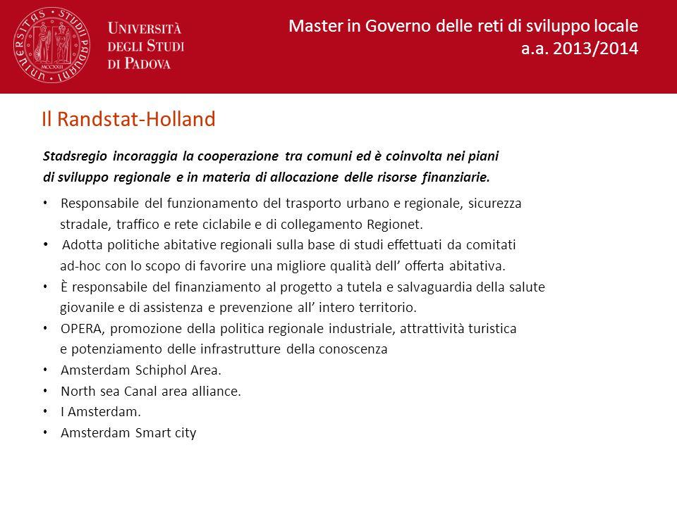 Il Randstat-Holland Master in Governo delle reti di sviluppo locale