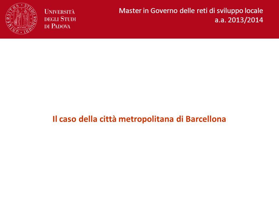 Il caso della città metropolitana di Barcellona