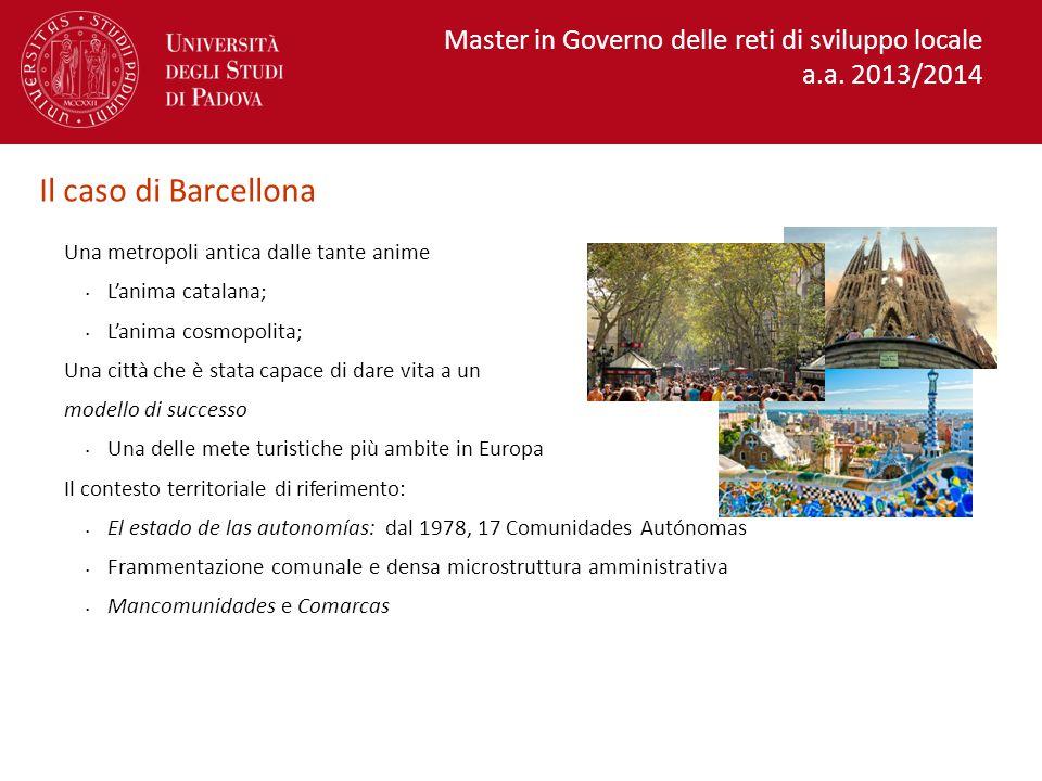Il caso di Barcellona Master in Governo delle reti di sviluppo locale