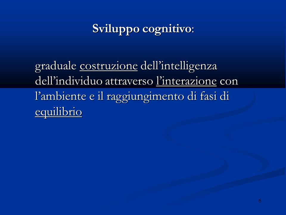 Sviluppo cognitivo: