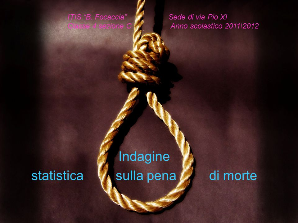 Indagine statistica sulla pena di morte