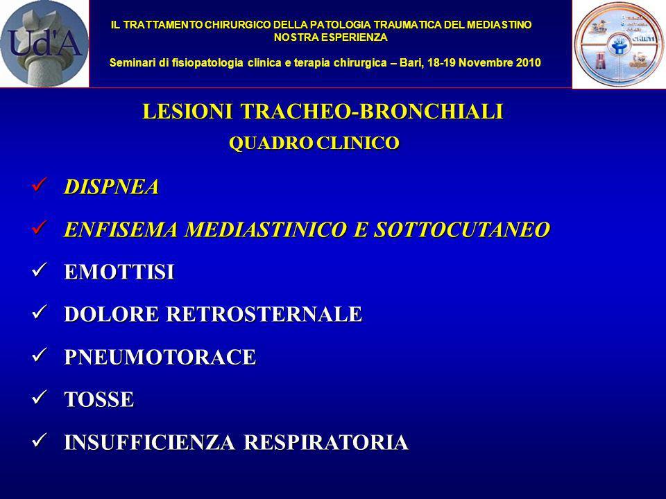LESIONI TRACHEO-BRONCHIALI