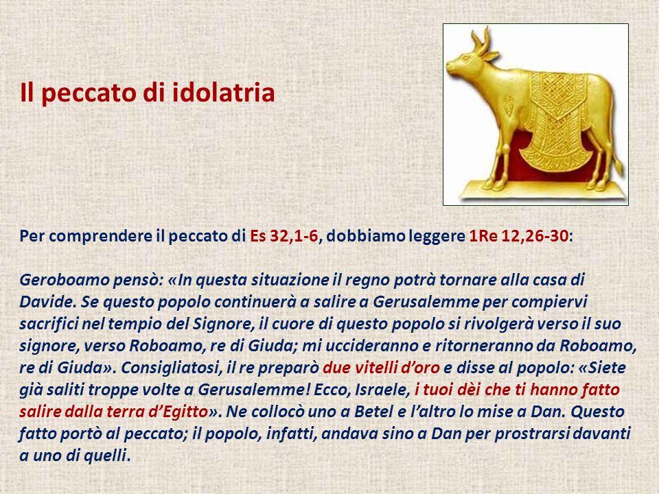 Il peccato di idolatria