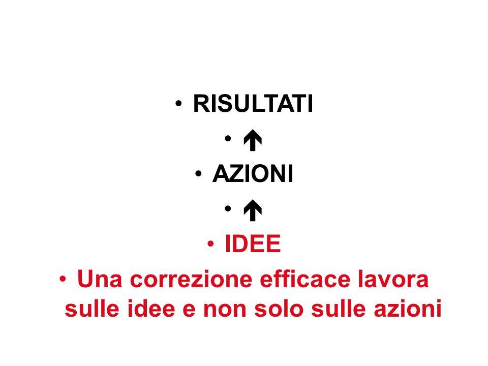 Una correzione efficace lavora sulle idee e non solo sulle azioni