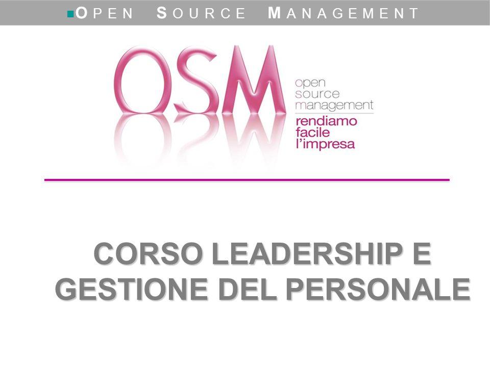 CORSO LEADERSHIP E GESTIONE DEL PERSONALE