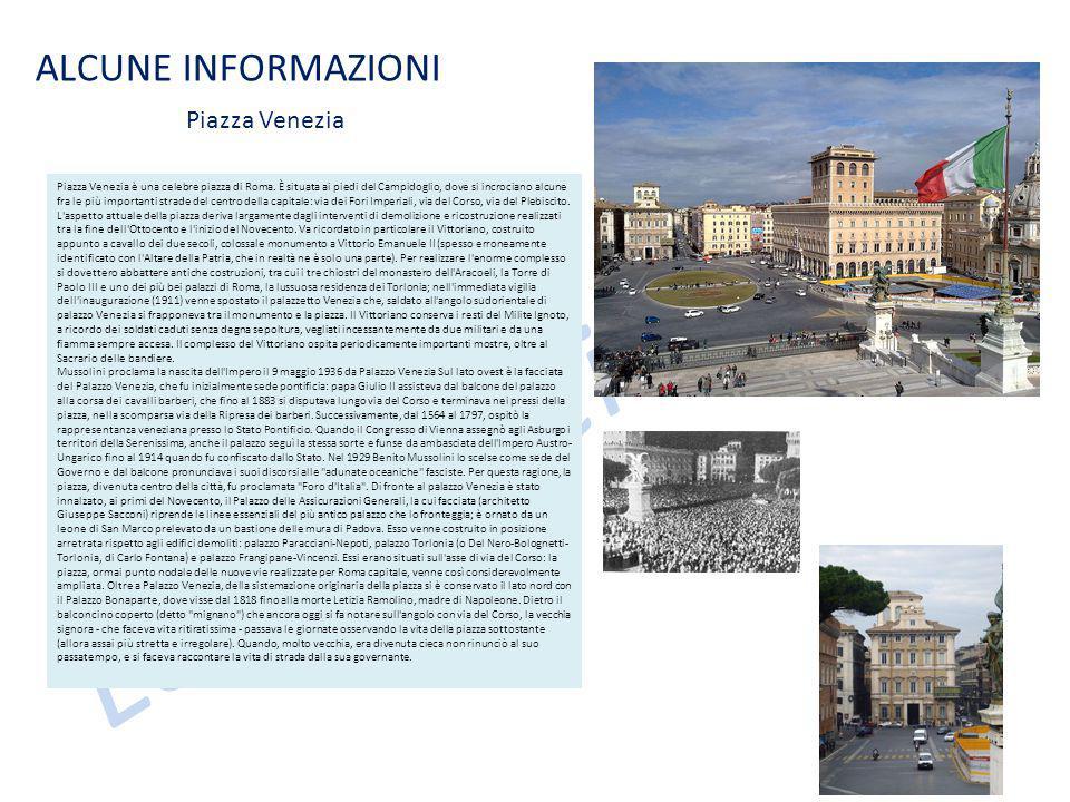 Le case dei nonni ALCUNE INFORMAZIONI Piazza Venezia