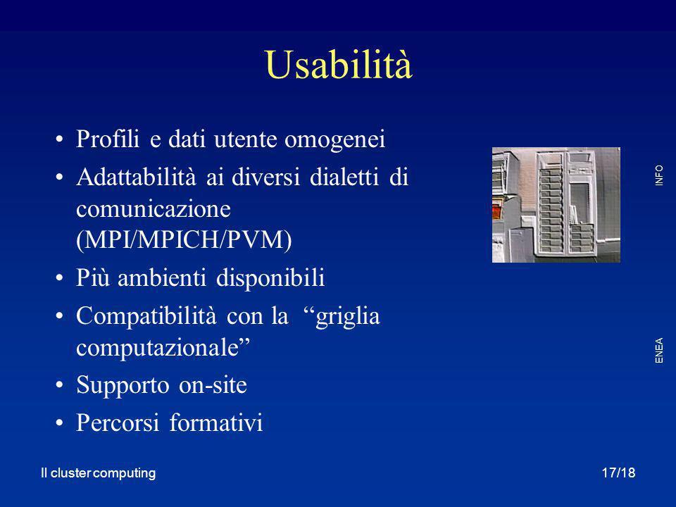Usabilità Profili e dati utente omogenei