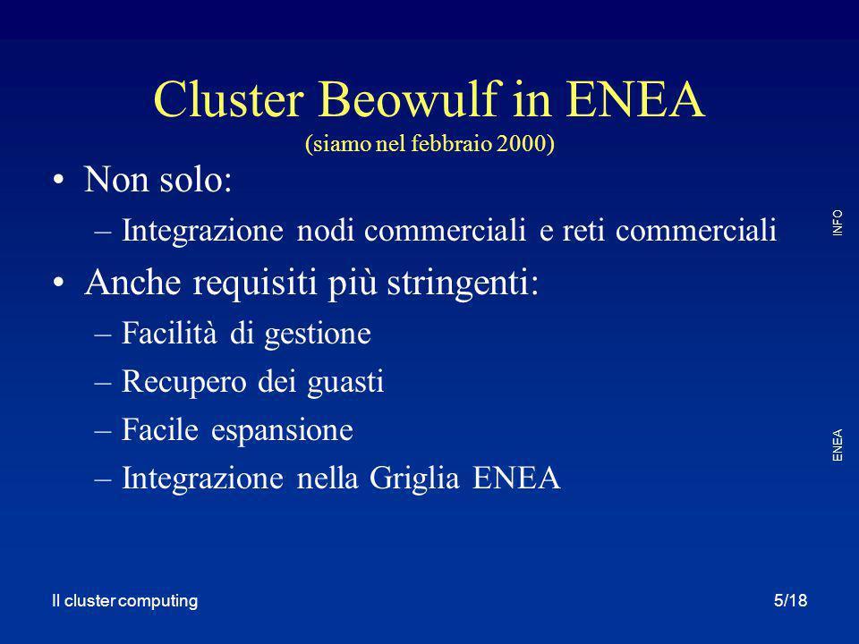 Cluster Beowulf in ENEA (siamo nel febbraio 2000)