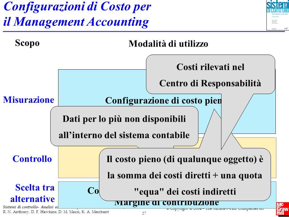 Configurazioni di Costo per il Management Accounting