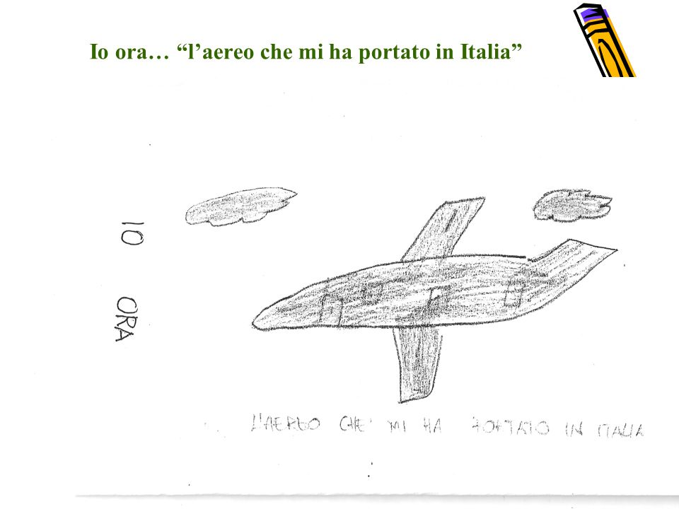 Io ora… l'aereo che mi ha portato in Italia