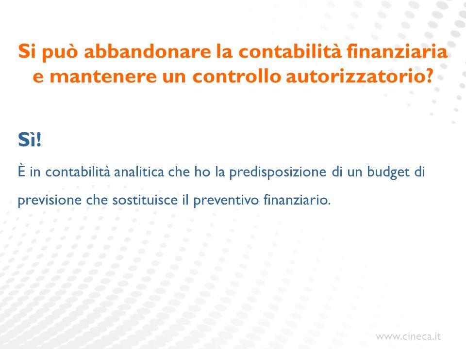 Si può abbandonare la contabilità finanziaria