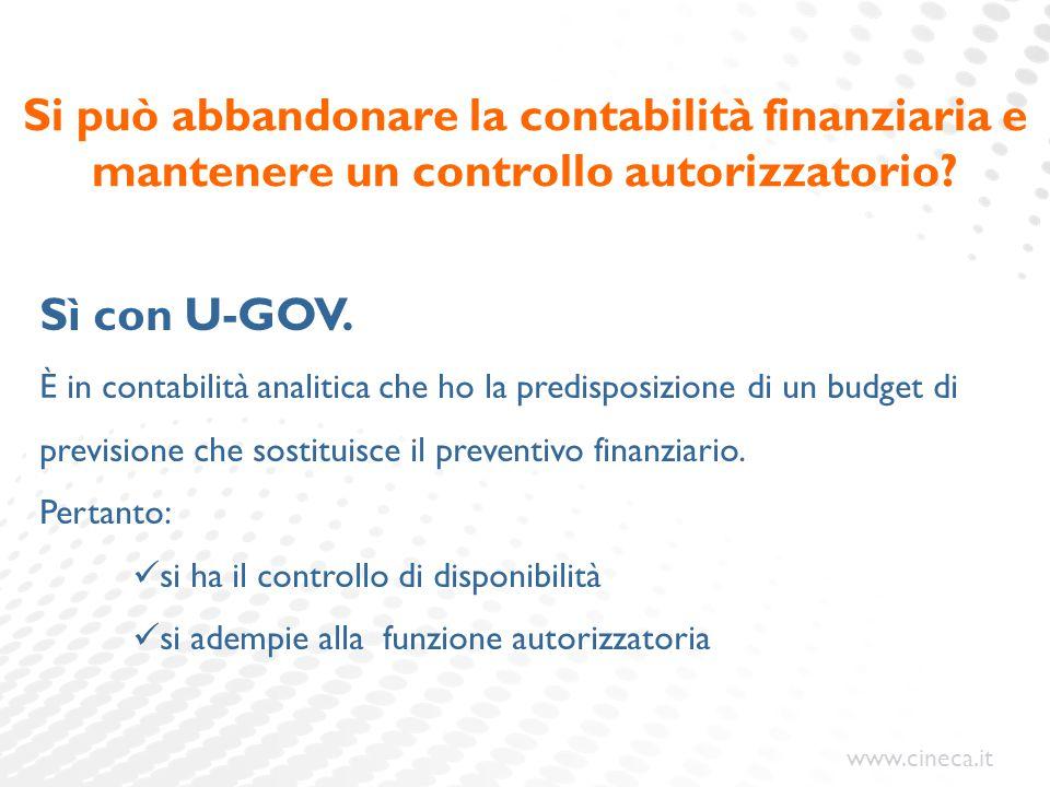 Si può abbandonare la contabilità finanziaria e mantenere un controllo autorizzatorio