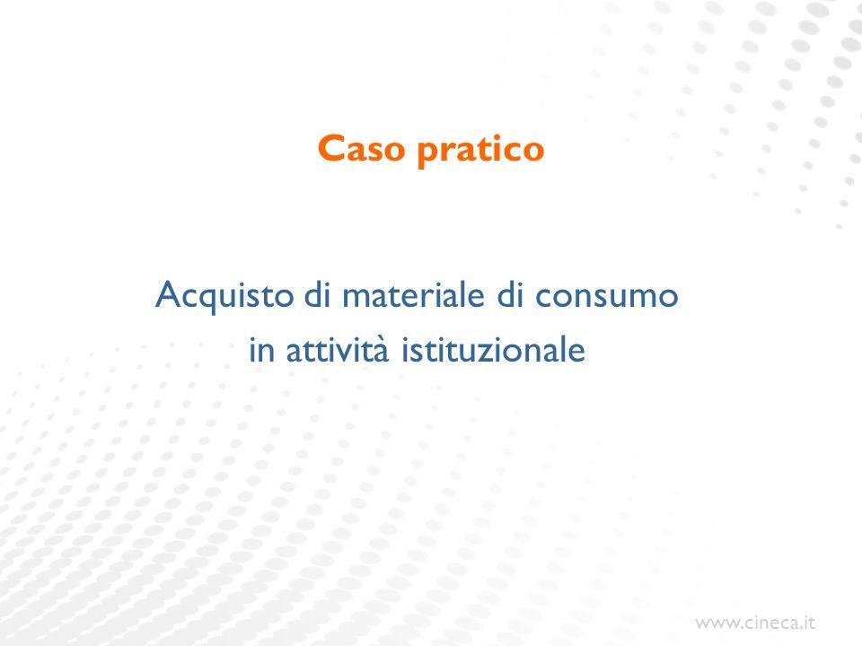 Acquisto di materiale di consumo in attività istituzionale